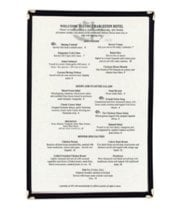 "Update International MCL-1BK - 10.24"" x 14"" Single Page Menu Cover"