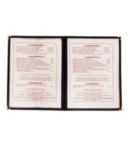 "Update International MCV-2RD - 9.25"" x 12"" Double Fold Red Menu Cover"
