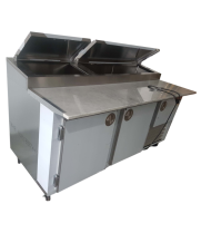 "Universal Coolers MPP-6 - 72"" Pizza Prep Table - Marble Top"