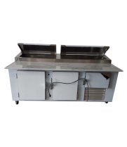 "Universal Coolers MPP-8 - 96"" Pizza Prep Table - Marble Top"