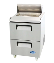"Atosa MSF8309 - 27"" Refrigerated Salad / Sandwich Prep Table - 2 Drawers"