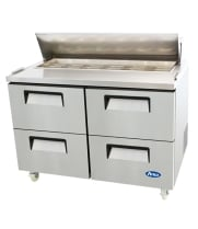 "Atosa MSF8311 - 48"" Refrigerated Salad / Sandwich Prep Table - 4 Drawers"