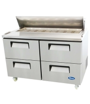 "Atosa MSF8313 - 60"" Refrigerated Salad / Sandwich Prep Table - 4 Drawers"