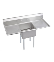 "Universal DD2020-1RL - 60"" Deep Draw One Compartment Sink W/ Two Drainboards"