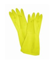 Thunder Group PLGL006YW - Yellow Large Latex Gloves