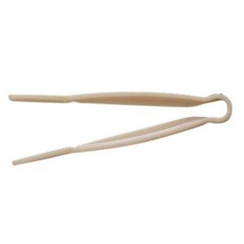 Thunder Group Beige Polycarbonate Flat-Grip Tongs 12