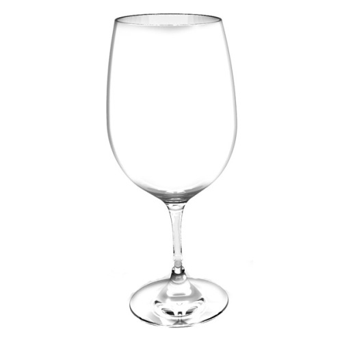 Thunder PLTHWG023RC - 23oz. Polycarbonate Red Wine Glass - Clear - Case of 12