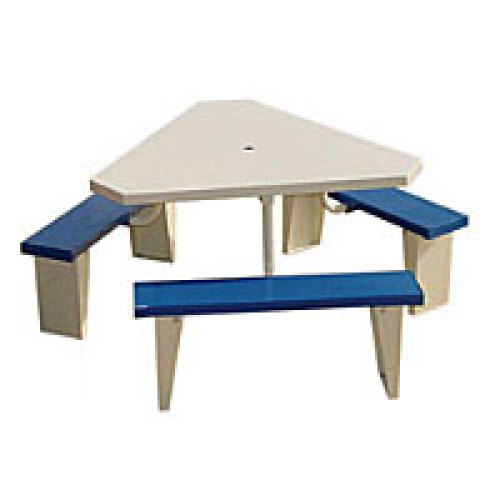 PVI PICTRI Triangle Top Seater Picnic Table - Triangle picnic table