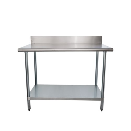 Universal BSS X Stainless Steel Work Table W Back - Stainless steel work table 30 x 48