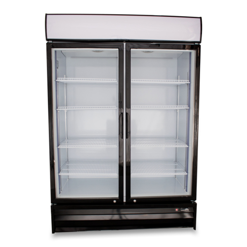 universal sb54sc 54 glass door reach in refrigerator - Refridgerator Glass Door