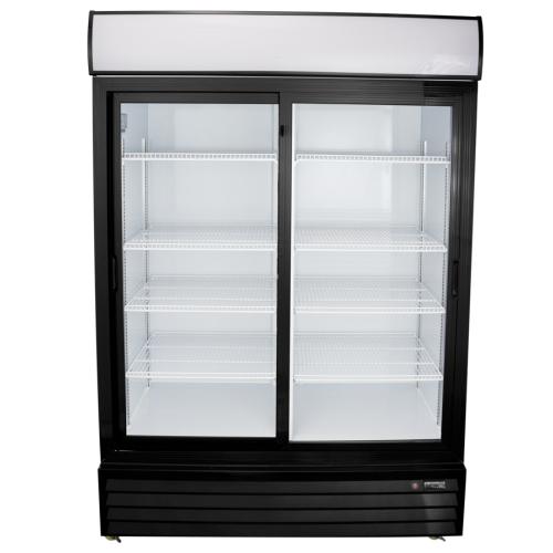 Universal Ssb54sc 54 Sliding Gl Door Reach In Refrigerator