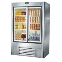 38 Inch Glass Sliding Reach In Refrigerator