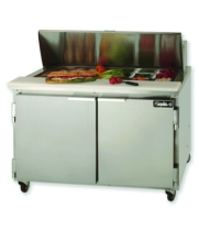 "Leader ESLM48 - Two Door 48"" Refrigerated Sandwich Prep Table - NSF Certified"