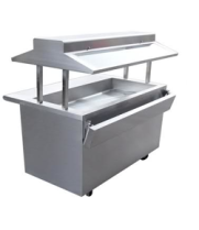Universal EBT-48-SC - 3 Well Refrigerated Buffet Table - Cold Food