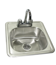 "Universal DIS1515-5D - Drop In Sink W/ Faucet - 15"" X 15"""