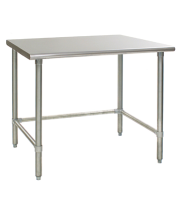 "Universal SG3696-RCB - 96"" X 36"" Stainless Steel Work Table W/ Galvanized Cross Bar"