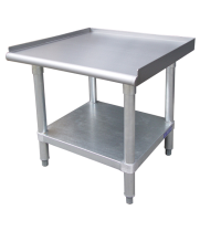 "Universal ESG2412 - 24"" X 12"" Stainless Steel Equipment Stand W/ Galvanized Under Shelf"