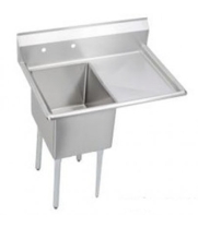"Universal DD1620-1R - 35"" Deep Draw One Compartment Sink W/ Right Drainboard"