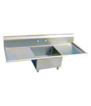 "Universal LJ1821-1RL - 54"" One Compartment Sink W/ Two Drainboards"