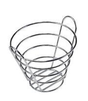 "GET Enterprises - 4-22787-S - 7"" Small Chrome Bucket Basket"