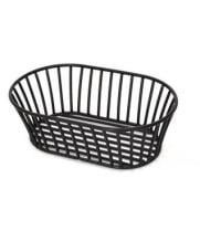 GET Enterprises - 4-31892 - Short Black Stackable Tuscan-style Basket