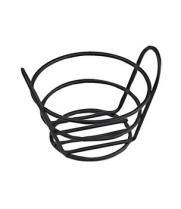 "GET Enterprises - 4-33780 - 5 3/8"" x 3"" Black Powder-coated Bucket Basket"