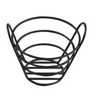 "GET Enterprises - 4-33782 - 6"" x 4"" Black Powder-coated Bucket Basket"