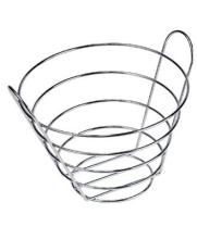 "GET Enterprises - 4-22789-L - 10 1/2"" Large Chrome Bucket Basket"
