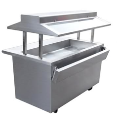 Universal EBT-84-SC - 6 Well Refrigerated Buffet Table - Cold Food
