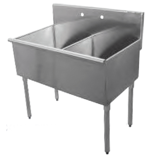 Universal BS2424-2 - Two Compartment Sink - 48