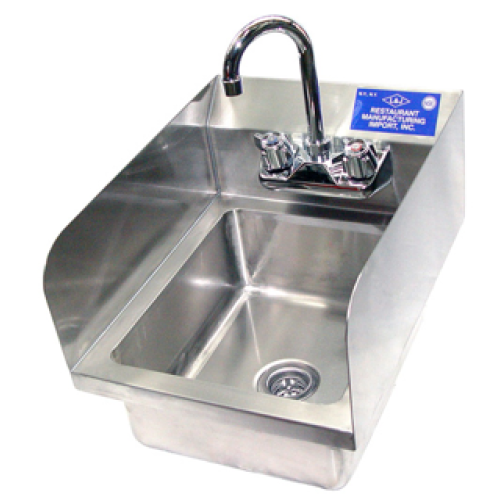 Universal WHS-1212-7D-2 - Wall Hung Hand Sink W/ Faucet - 12