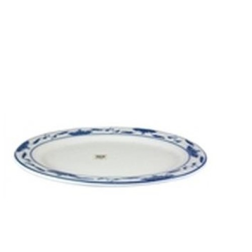 C.A.C. China 103-12 - Blue Lotus Platter 10-1/4