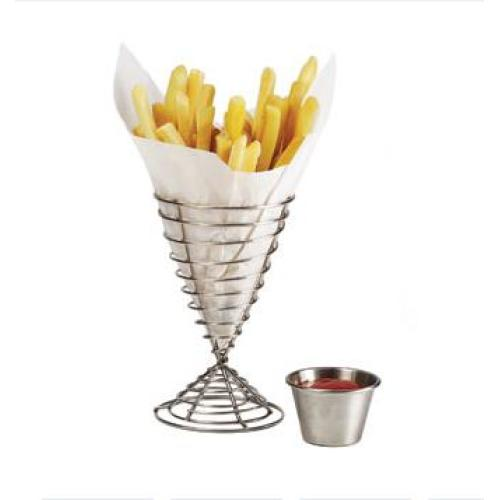Clipper Mill - 4-88068 - Stainless Steel Bistro Fry Cone