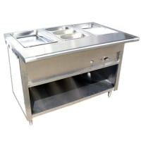 Universal EST-108 - 8 Well Steam Table - Electric