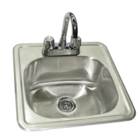 Universal DIS1933-5D-2 - Two Compartment Drop In Sink W/ Faucet - 19