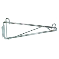 Universal MFG Chrome Single Wall Bracket 14