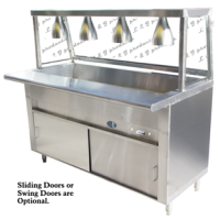 Universal GCTL-48 - 3 Well Cafeteria Steam Table - Gas