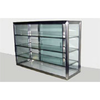 Carib 5 Compartment Sliding Door Display Case 10