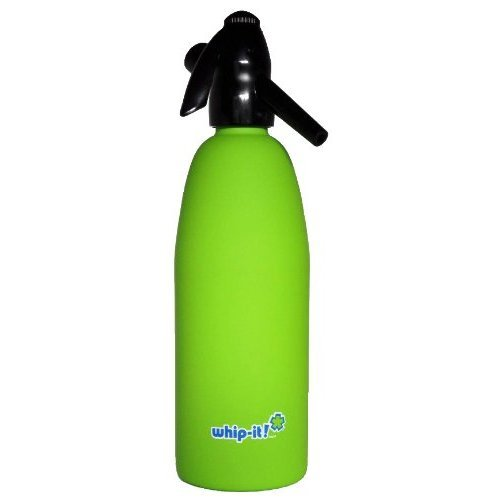 Whip It! - SSSV-09 - Lime Green Soda Siphon - Rubber Coated