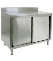 "16"" X 36"" Stainless Steel Cabinet - Swinging Doors - w/ Backsplash"