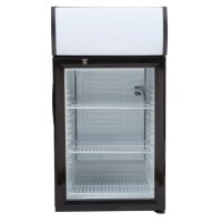 White / Black Swing Door Countertop Display Refrigerator Merchandiser - 2.1 cu. ft.