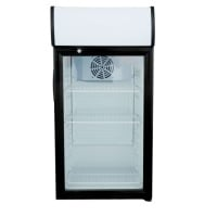 White / Black Swing Door Countertop Display Refrigerator Merchandiser - 3 cu. ft.