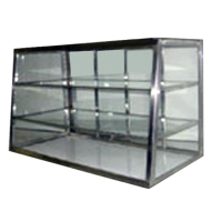 Carib 2 Compartment Tapered Front Display Case 12