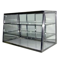 Carib 3 Compartment Tapered Front Display Case 12