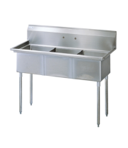 Universal SK2136-3 - Three Compartment Utility Sink - 39""