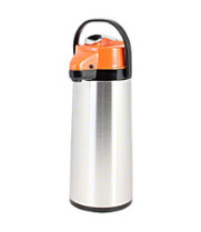 Thunder Group ASLG022D - 2.2 L Glass Lined Stainless Steel Airpot with Lever Pump - Decaf