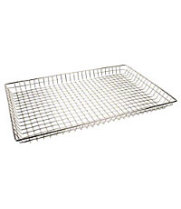 "Thunder Group CRDB1626 - Rectangular Nickel-Plated Donut Basket 12"" x 26"" (Pack of 12)"