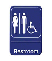 "Thunder Group PLIS6903BL - Restroom Sign 9"" x 6"" (12 per Case)"