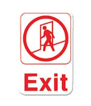 "Thunder Group PLIS6907RD - Exit Sign 9"" x 6"" (12 per Case)"
