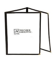 "Thunder Group PLMENU-3BL - Black Three Page Menu Cover 8-1/2"" x 11"" (10 per Case)"